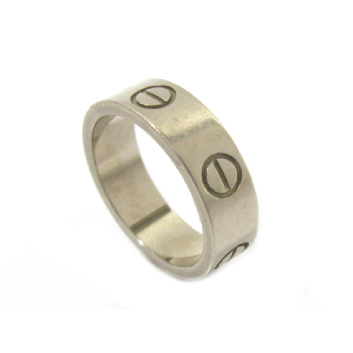 【中古】カルティエ ラブリング 指輪 レディース K18WG (750) ホワイトゴールド シルバー | Cartier リング K18 18K 18金 ラブリング 美品 ブランドオフ BRANDOFF