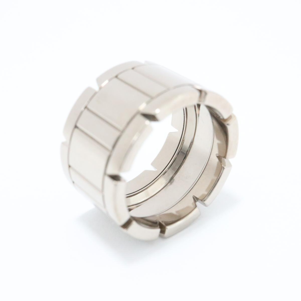 【中古】カルティエ タンクフランセーズLM リング 指輪 メンズ レディース K18WG (750) ホワイトゴールド シルバー | Cartier リング K18 18K 18金 タンクフランセーズLM 美品 ブランドオフ BRANDOFF