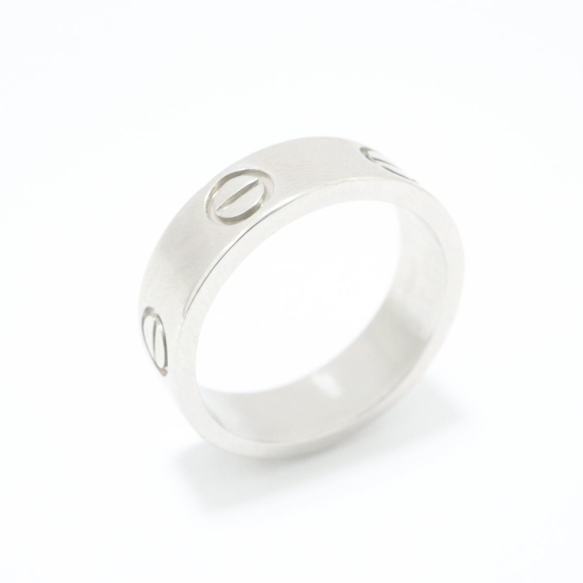 【中古】カルティエ ラブリング 指輪 メンズ レディース PT950 プラチナ シルバー | Cartier リング ラブリング 美品 ブランドオフ BRANDOFF