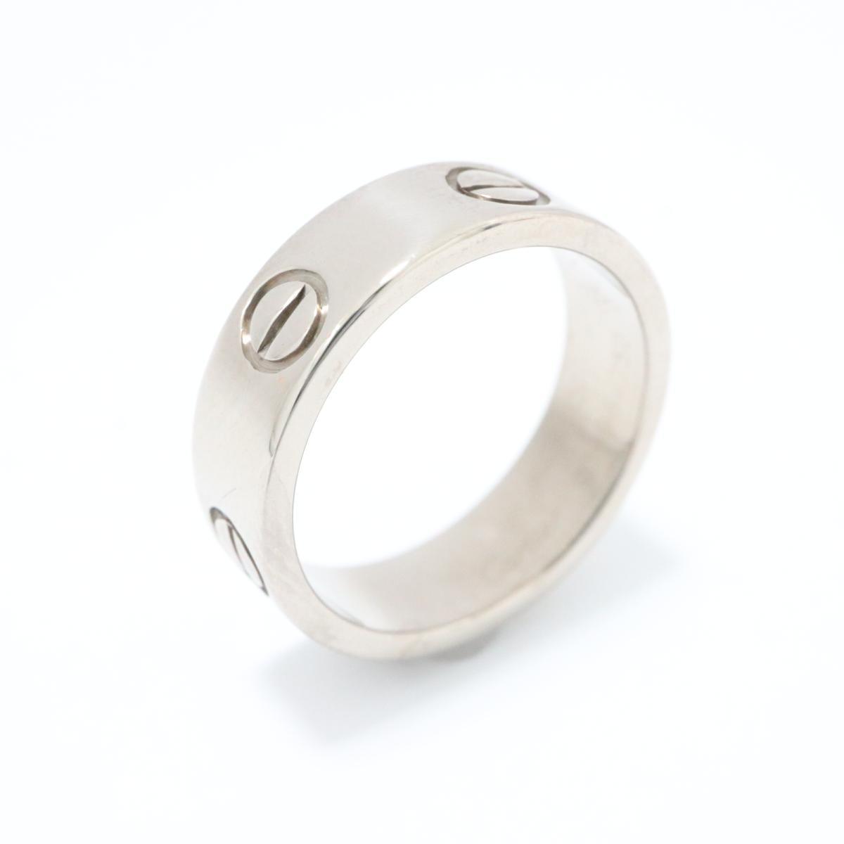 【中古】カルティエ ラブリング 指輪 メンズ レディース K18WG (750) ホワイトゴールド シルバー | Cartier リング K18 18K 18金 ラブリング 美品 ブランドオフ BRANDOFF