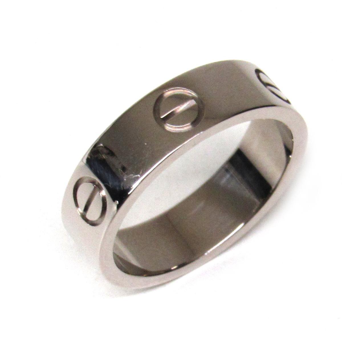 【中古】 カルティエ ラブリング 指輪 メンズ レディース K18WG (750) ホワイトゴールド シルバー | Cartier リング K18 18K 18金 ラブリング ブランドオフ BRANDOFF