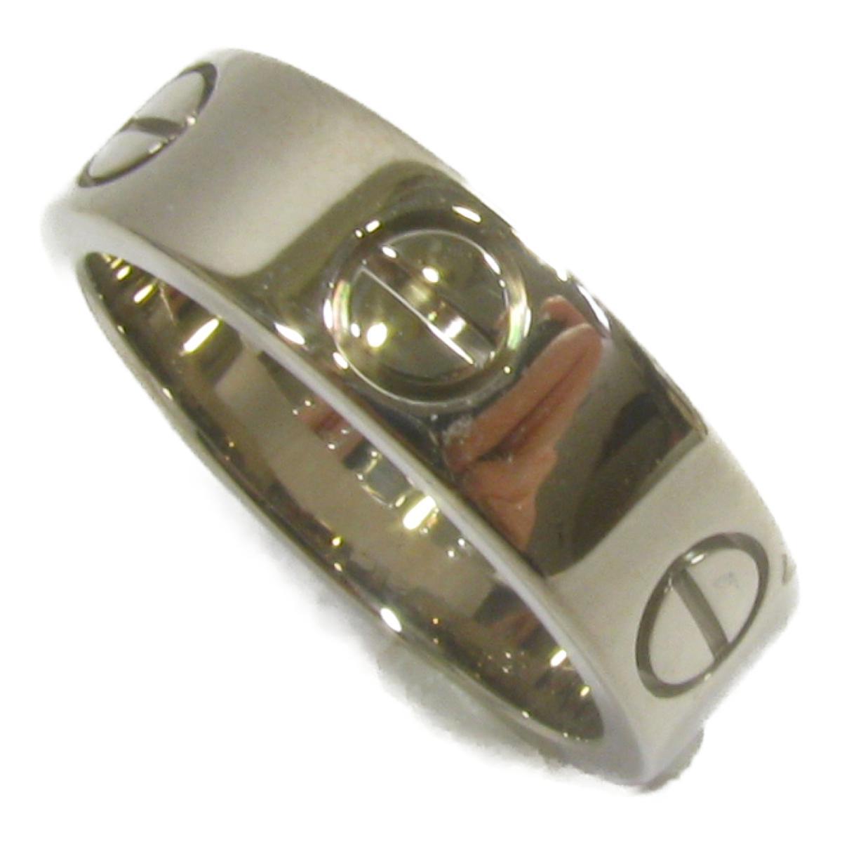 【中古】 カルティエ ラブリング 指輪 レディース K18WG (750) ホワイトゴールド シルバー | Cartier リング K18 18K 18金 ラブリング 美品 ブランドオフ BRANDOFF