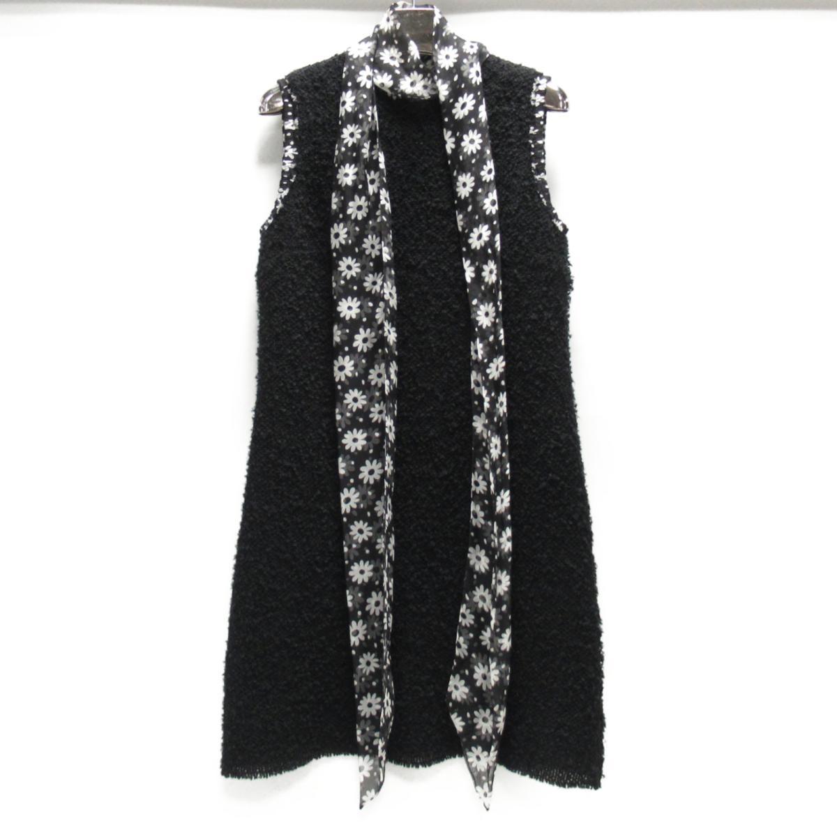 【中古】 ドルチェ&ガッバーナ ワンピース レディース ウール (66%) x シルク (20%) x ナイロン (14%) ブラック | DOLCE & GABBANA 衣類 ワンピース 美品 ブランドオフ BRANDOFF