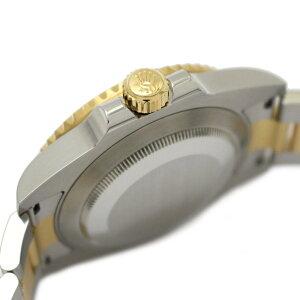 【中古】ロレックスサブマリーナデイトメンズウォッチ腕時計メンズK18YG(750)イエローゴールド×ステンレススチール(SS)(116613LB)