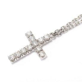 【中古】 カルティエ クロス ダイヤモンドネックレス メンズ レディース K18WG (750) ホワイトゴールド x ダイヤモンド (石目なし) | Cartier BRANDOFF ブランドオフ ブランド アクセサリー ネックレス ペンダント