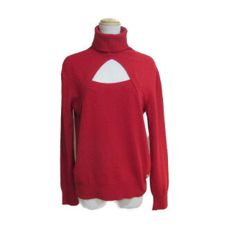 Chanel 06A knit lady's 100% cashmere red (P29662K00217) | CHANEL BRANDOFF brand off clothing clothing brand tops sweater winter autumn cold protection means