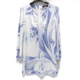 【中古】 レオナール チュニック レディース アセテート (65%) ポリエステル (35%) ホワイト ラベンダー | LEONARD BRANDOFF ブランドオフ 衣料品 衣類 ブランド