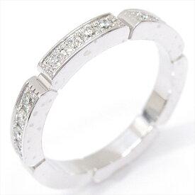 【中古】カルティエ マイヨンパンテール リング 指輪 ハーフダイヤ レディース K18WG(750) ホワイトゴールド x ダイヤモンド (石目なし)