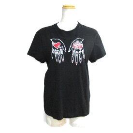 【中古】ヴァレンチノ RED VALENTINO Tシャツ レディース コットン ブラック