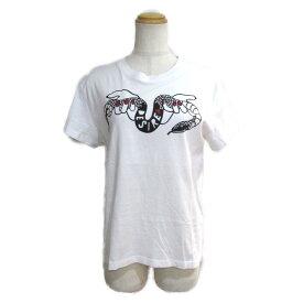 【中古】ヴァレンチノ RED VALENTINO Tシャツ レディース コットン ホワイト