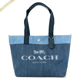 コーチ COACH レディース トートバッグ ロゴ デニムトート ブルー×ライトブルー 91131 SV/DE | コンビニ受取 ブランド