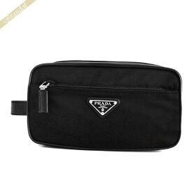 プラダ PRADA メンズ セカンドバッグ 三角ロゴ クラッチバッグ ブラック 2NA819 064 F0002 | コンビニ受取 ブランド