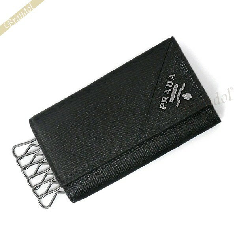 プラダ PRADA キーケース メンズ レザー 6連 ブラック 2PG222 QME F0002 / NERO 【ブランド】