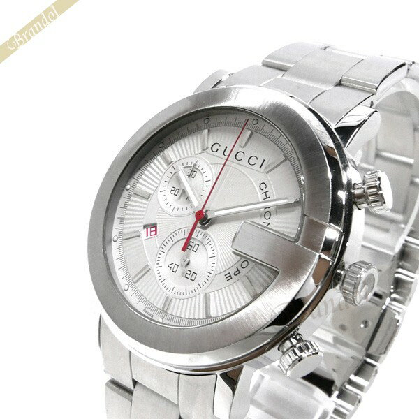 グッチ GUCCI メンズ腕時計 Gクロノ G-Chrono クロノグラフ 44mm シルバー YA101339 【ブランド】