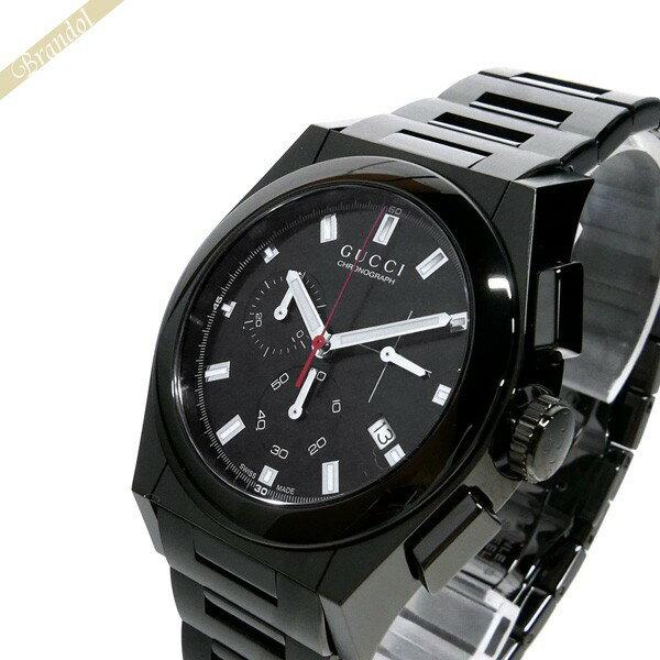 グッチ GUCCI メンズ腕時計 パンテオン PANTHEON クロノグラフ 42mm オールブラック YA115237 【ブランド】