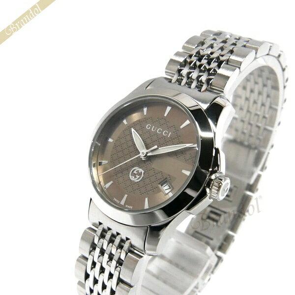《クーポンで1000円OFF 5/26 23:59まで》グッチ GUCCI レディース腕時計 Gタイムレス G-Timeless 27mm ブラウン×シルバー YA1265007 【ブランド】