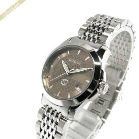 《クーポンで2400円OFF 7/16 23:59まで》グッチ GUCCI レディース腕時計 Gタイムレス G-Timeless 27mm ブラウン×シルバー YA1265007   ブランド