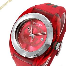 《全品ポイント3倍_9日1:59まで》グッチ GUCCI メンズ腕時計 SYNC グッチシンク 46mm レッド YA137103A   ブランド