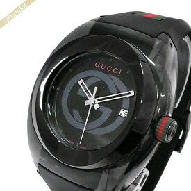 《1800円OFFクーポン対象_10月25日23:59迄》グッチ GUCCI メンズ腕時計 SYNC グッチシンク 46mm ブラック YA137107A | ブランド