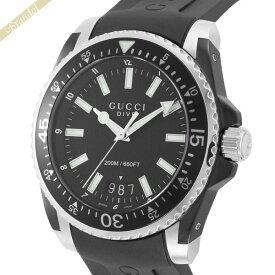《全品ポイント3倍_9日1:59まで》グッチ GUCCI メンズ腕時計 DIVE ダイブ 45mm ブラック YA136204A   ブランド