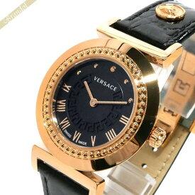 《クーポンで1300円OFF 9月24日1:59迄》ヴェルサーチ VERSACE レディース腕時計 ヴァニティ 35mm ブラック×ゴールド P5Q80D009S009 | ブランド