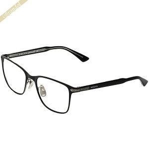 グッチ GUCCI メンズ メガネフレーム スクエア型 セルフレーム ブラック GG0070O-001 | 2019年春夏新作 ブランド