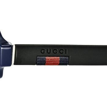 グッチGUCCIメンズサングラスティアドロップ型アビエーターセルフレームシルバー系×ネイビーGG0172SA-004 コンビニ受取ブランド