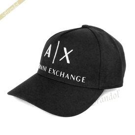 アルマーニエクスチェンジ ARMANI EXCHANGE メンズ 帽子 AX ロゴ キャップ ブラック 954039 CC513 00020 | コンビニ受取 xcp2 ブランド