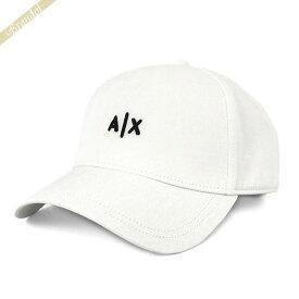 アルマーニエクスチェンジ ARMANI EXCHANGE メンズ 帽子 AX ロゴ キャップ ホワイト 954112 CC571 00010   コンビニ受取 xcp2 ブランド