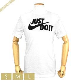 ナイキ NIKE メンズ Tシャツ Just do It ロゴ [Sサイズ/Mサイズ/Lサイズ] ホワイト AR5006 100 WHITE / BLACK | コンビニ受取 ブランド