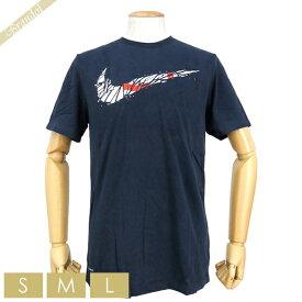 ナイキ NIKE メンズ Tシャツ NK Dry T-Shirt スウィッシュ ロゴ [Sサイズ/Mサイズ/Lサイズ] ネイビー BQ3657 419 COLLEGE NAVY / TEAM ORANGE | コンビニ受取 ブランド