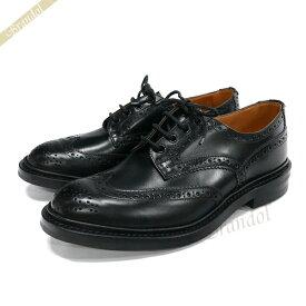 トリッカーズ Tricker's メンズ ビジネスシューズ バートン BOURTON ウィングチップ 本革 ブローグシューズ [24.5cm/25.0cm/25.5cm/26.0cm/26.5cm/27.0cm] ブラック 5633-10 | ブランド