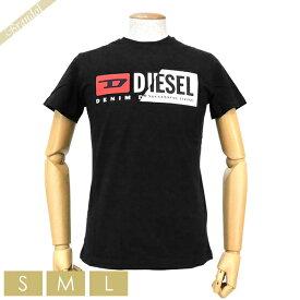 ディーゼル DIESEL メンズ Tシャツ T-DIEGO-CUTY Wロゴ [Sサイズ/Mサイズ/Lサイズ] ブラック 00SDP1 0091A 900 | コンビニ受取 ブランド