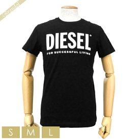 ディーゼル DIESEL メンズ Tシャツ T-DIEGO-LOGO ロゴ [Sサイズ/Mサイズ/Lサイズ] ブラック 00SXED 0AAXJ 900 | コンビニ受取 ブランド