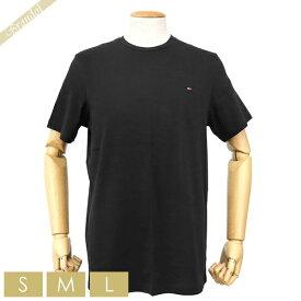 トミーヒルフィガー TOMMY HILFIGER メンズ Tシャツ コア フラッグ クルーネック [Sサイズ/Mサイズ/Lサイズ] ブラック 09T3139 001 BLACK | コンビニ受取 ブランド