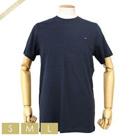 トミーヒルフィガー TOMMY HILFIGER メンズ Tシャツ コア フラッグ クルーネック [Sサイズ/Mサイズ/Lサイズ] ネイビー 09T3139 410 DARK NAVY | コンビニ受取 ブランド