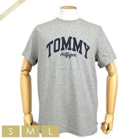 トミーヒルフィガー TOMMY HILFIGER メンズ Tシャツ グラフィック ロゴ [Sサイズ/Mサイズ/Lサイズ] グレー 09T3711 004 GREY HEATHER | コンビニ受取 ブランド