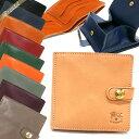 イルビゾンテ IL BISONTE 財布 メンズ 二つ折り財布 レザー [ブラック/ブラウン/ヌメ/オレンジ/レッド/ネイビー/グリーン] 各色 C0508 | コンビニ受取 ブランド