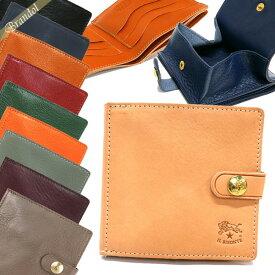 イルビゾンテ IL BISONTE 財布 メンズ 二つ折り財布 レザー [ブラック/ブラウン/ヌメ/オレンジ/レッド/ネイビー/グリーン/グレージュ] 各色 C0508 | コンビニ受取 xcp1 冬ギフト ブランド