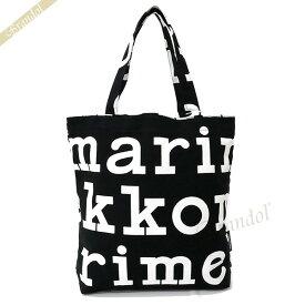 《期間限定P5倍_15日23:59迄》マリメッコ トートバッグ marimekko レディース Marilogo マリロゴ キャンバストート ブラック×ホワイト 047312 911 | ブランド
