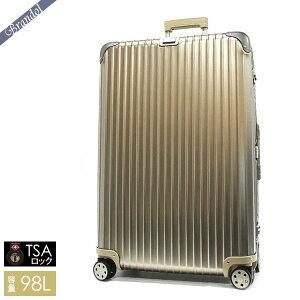 《RIMOWA全品3000円OFFクーポン》リモワ スーツケース RIMOWA TOPAS TITANIUM トパーズ チタニウム TSAロック対応 縦型 98L Lサイズ シャンパンゴールド 924.77.03.4 | ブランド
