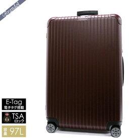 《4000円クーポン配布中》リモワ スーツケース SALSA サルサ TSAロック対応 E-Tag 電子タグ搭載 縦型 97L Lサイズ ボルドー系マット 811.77.14.5
