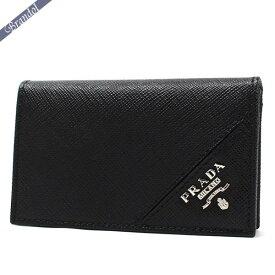 プラダ PRADA メンズ 名刺入れ レザー カードケース ブラック 2MC122 QME F0002 | ブランド