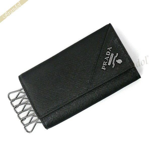 プラダ キーケース メンズ レザー 6連 ブラック 2PG222 QME F0002 / NERO 【ブランド】