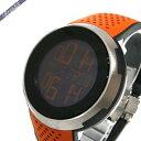 《クーポン利用で1600円OFF!10/20 23:59まで》グッチ メンズ腕時計 Iグッチ XXL スポーツ ウォッチ デジタル 49mm ブラック×オレンジ YA114104