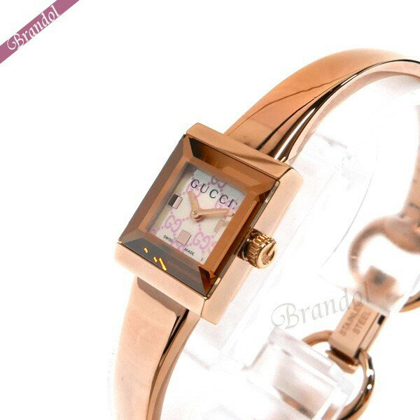 グッチ レディース レディース腕時計 Gフレーム スクエア バングルウォッチ ピンクシェル×ピンクゴールド YA128518