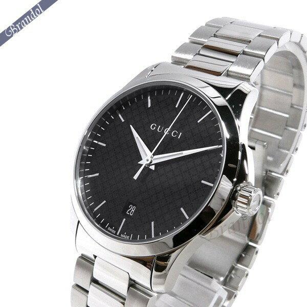 グッチ メンズ腕時計 Gタイムレス G-Timeless 40mm ブラック×シルバー YA1264051 【ブランド】