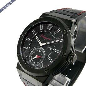 フェラガモ Ferragamo メンズ腕時計 F-80 MOTION スマートウォッチ 44mm ブラック×レッド FAZ020016   ブランド