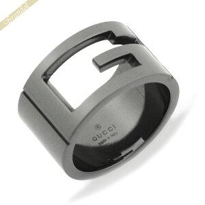 グッチ GUCCI メンズ 指輪 カットアウトG リング 10号 ブラック系 224031 J8400 8195 10 | ブランド