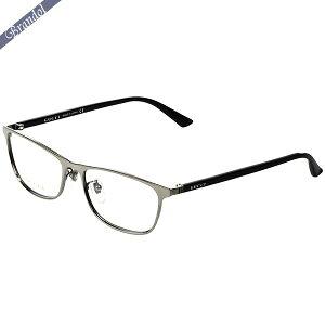 グッチ GUCCI メンズ メガネフレーム ウェリントン型 コンビフレーム シルバー系×ブラック GG0133OJ-002 | ブランド